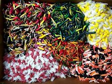 """50pc Panfish Tube Assortment 2"""" Tubes & Tubetails Crappie Jigs Trout Bream Shad"""