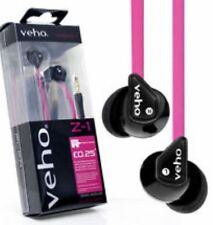 Veho 360 Z-1 In-Ear Headphones Anti Tangle Cable & Stereo Noise Isolating - Pink