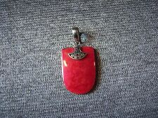 Sterling Silver 925 & Red Coral Pendant