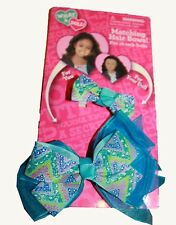 WHAT A DOLL! MATCHING HAIR BOWS FOR YOU AND FOR YOUR DOLL FITS 18-INCH DOLLS (2)