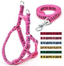 Dog Harness & Leash Lead Nylon New No Pull Puppy Small Medium Pink Male Female