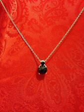 Thai Black Spinel Pendant in Sterling Silver with Stainless Steel 20 in Chain