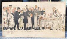 Lithographie Adrien BARRERE (1874-1931) Caricature Médecine Femme Expérience