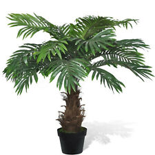 Artificial Cycus Palm Tree Lifelike Dried Potted Plant Home Office Green Decor