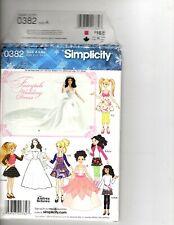 Simplicity Pattern Fairytale Wedding Dress & Wardrobe Bratz Barbie Moxie