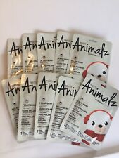 Lot of 10 Pretty Animalz Fantasy Masque Bar Creme Sheet Face Mask - Polar Bear
