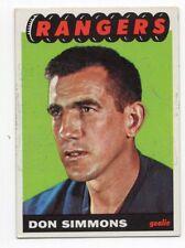 1X DON SIMMONS 1965 66 Topps #88 EXMT NY RANGERS