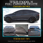 For 2016-2020 Tesla Model X Full Chrome Delete Trim Blackout - Matte Black Vinyl