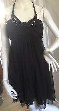 Lipsy Little Black Dress Black Size 8 Halterneck