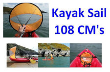 Kayak Instant Wind Sail Kit - Easy Canoe Sailing 108cm's! Sails