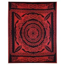 Celtic Dragon Knot Scarlet Full Tapestry