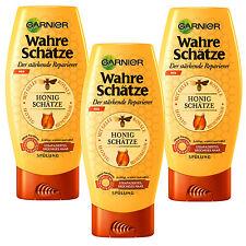 (23,35€/L) 3x 200ml Garnier Wahre Schätze Spülung Honigschätze strapazierte Haar