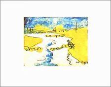 Max Pechstein kniender el Priel en Dangast póster imagen son impresiones artísticas 24x30cm
