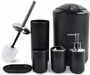 CERBIOR Bathroom Accessories Set 6 Piece Bath Ensemble Includes Soap Dispenser,