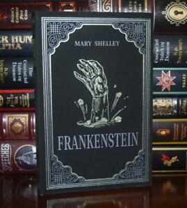 Frankenstein by Mary Shelley Horror New Suede Leather Feel Deluxe Ribbon Gift
