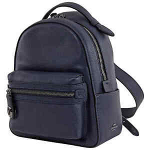 Coach Ladies Pebble Leather Campus Backpack 23 In Midnight 31032 GMBHP