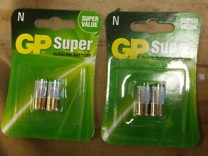 4X GP LR1 N Super Alkaline 1.5V Battery 910A MN9100 E90 Bite Security Alarm