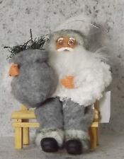 Weihnachtsmann Nikolaus Holzbank Deko Weihnachten 9*11*16cm Nostalgie