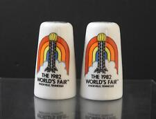 Vintage Ceramic Salt Pepper 1982 World's Fair Knoxville Tennessee 3 1/4&#03