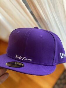Supreme Reverse Box Logo New Era Fitted Hat Purple 7-1/4