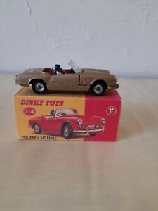 DINKY TOY NO 114 TRIUMPH SPITFIRE PARTLY RESTORED  IN VERY GOOD CONDITION