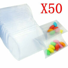 50X PVC Pillow Plastic Snacks Chocolate Sweet Wedding Party Candy Gift Box Decor