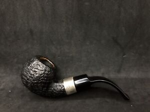 Irish Estate Peterson Sterling Silver (03S) Sandblast Bent Apple Pipe 9mm