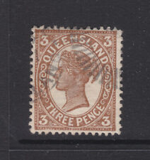 Qld 3d Brown Sg 291 Or 292 Used Wmk Ca