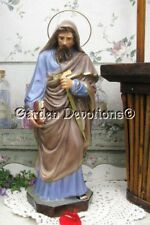 "Nice! 11.5"" ST. PAUL STATUE Chalkware Sword & Book **IMPORTED**"