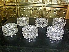 Set Of 6 Vintage Glass Individual Salt Dips, Open Salts