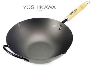 Genuine Yoshikawa Cook-Pal Ren Beijing Wok 33cm Made in Japan