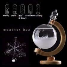 Christmas Xmas Gift Weather Forecast Crystal Globe Shape Storm Glass Home Decor