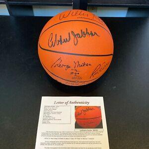 Kareem Abdul-Jabbar George Mikan NBA HOF Greats Signed Basketball With JSA COA