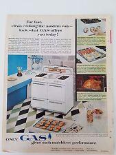 1956 Gas Range Stove White Matchless Performance Kitchen Appliance Ad