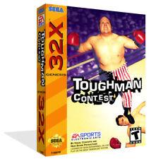 Toughman CONTEST Sega 32x Caja De sustitución Cubierta Estuche + obras de arte-Sin juego