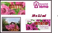 100 % PURE Bulgarian Rose Parfume Essential 10 x 2.1 ml Rosa Damascena Oil