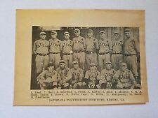 Louisiana Polytechnic Institute Ruston  1922 Baseball Team Picture