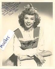 Vera-Ellen Actress White Christmas Dancer Autographed 8x10 Photo #2 COA DECEASED