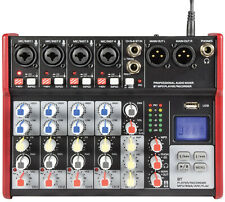 More details for csm-6 compact mixers with usb / bluetooth digital fx mixing desk studio uk stock