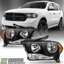 Black 2011 2012 2013 Dodge Durango Headlights Halogen Headlamps Model Left+Right