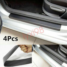 4x Auto Einstiegsleisten Lackschutz Schutzfolie Scuff 3D Carbon Schutz Aufkleber