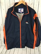 VTG 90s Logo Athletic NFL Denver Broncos Windbreaker Jacket Size Large P1