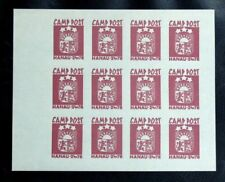 TIMBRES D'ALLEMAGNE : CAMP POST HANAU 24 / 76 ROUGE** NEUF SANS CHARNIERE - TBE