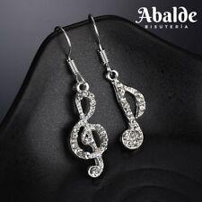 497823ed1a36 Pendientes Asimétricos Joya Mujer Notas musicales Arte Clave De Sol Regalo  Novia