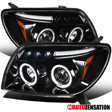 For 2003-2005 Toyota 4Runner Slick Black LED DRL Halo Rim Projector Headlights