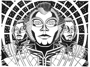 DOCTOR WHO ORIGINAL ART: THE ROBOTS OF DEATH BY SCOTT GRAY