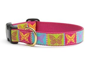 """Up Country Design Butterfly Dog Collar XL 1"""" W"""