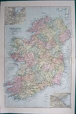 1901 LARGE VICTORIAN  MAP- IRELAND