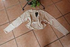 BORIS INDUSTRIES Wickeljacke Bolero Gr. 44 (3) NEU! creme Baumwolle LAGENLOOK