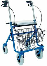 Rollator Walker Mobility Aid Medical Support Adjustable Heavy Duty Steel Tray